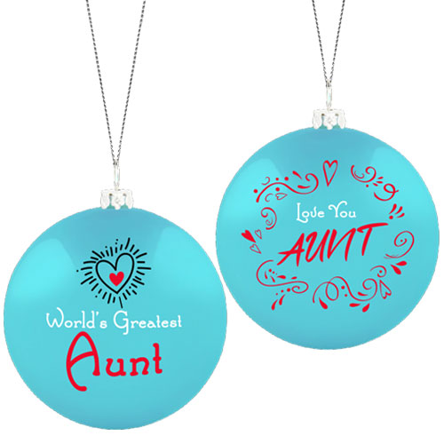 Greatest Aunt Ornament Image