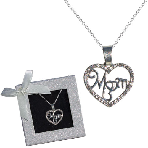 Mom Crystal Heart Necklace Image