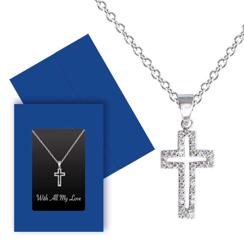Crystal Cross Necklace Image