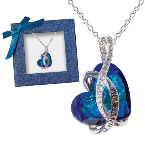 I Love You Crystal Heart Necklace Image